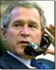 Bush on phone