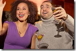 Couple on a date in martini lounge uid 1343829