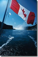 Canadian Flag Sailing down the alcohol River