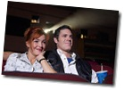 Couple watching movie in the theater uid 1176328
